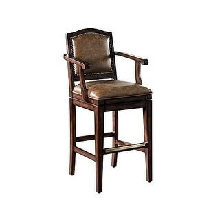 "American Heritage Billiards Martinique Bar Stool Martinique 45"" Tall Wood Frame Bar Stool"