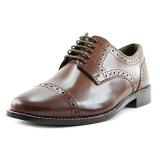 Nunn Bush Norcross Men Plain Toe Leather Brown Oxford