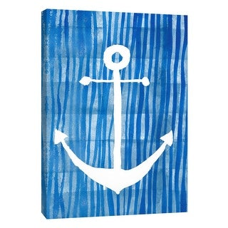 "PTM Images 9-108663  PTM Canvas Collection 10"" x 8"" - ""Blue Watercolor 2"" Giclee Anchors Art Print on Canvas"