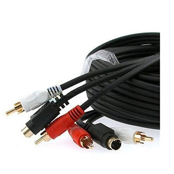 CMPLE 348-N S-Video & 2-RCA Audio Cable Combo Gold Plated -25ft