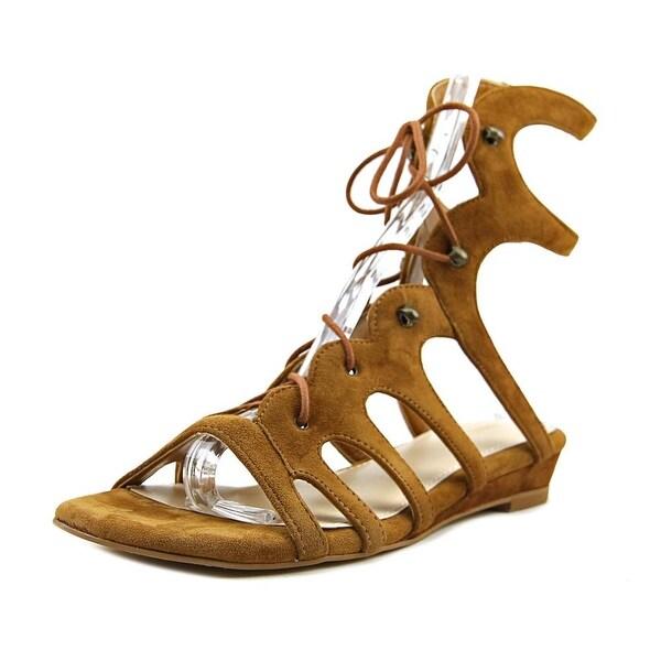 04e47393872c Shop Nine West Zavila Women Open Toe Suede Brown Gladiator Sandal ...
