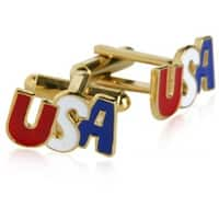 Gold Patriotic Usa America Cufflinks