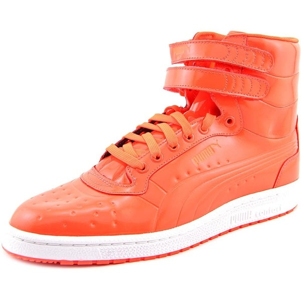 Puma Sky II Hi Patent Emboss Men Round Toe Synthetic Red Sneakers