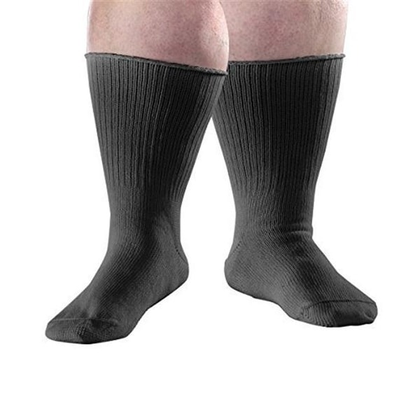 313bab79ec Shop Extra Wide Diabetic Swollen Feet Stretch & Edema Socks, Large - Free  Shipping Today - Overstock.com - 23184178