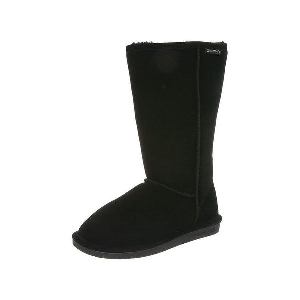 Bearpaw Boots Womens Emma Pull On Comfortable Cow Suede Wool