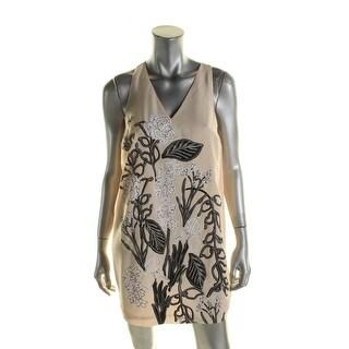 Guess Womens Slip Dress Chiffon Floral Print - S