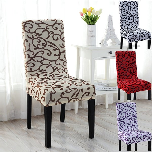 Dining Room Chair Back Covers: Shop Unique Bargains 2 Pcs Elastic Short Decorative Dining