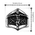 Vienna Jewelry Mini Skeleton Stainless Steel Ring - Thumbnail 1