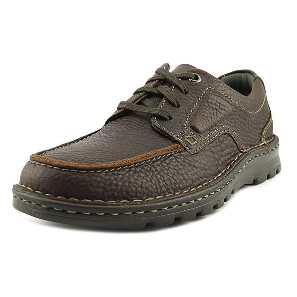 Clarks Vanek Apron Men Moc Toe Leather Brown Oxford