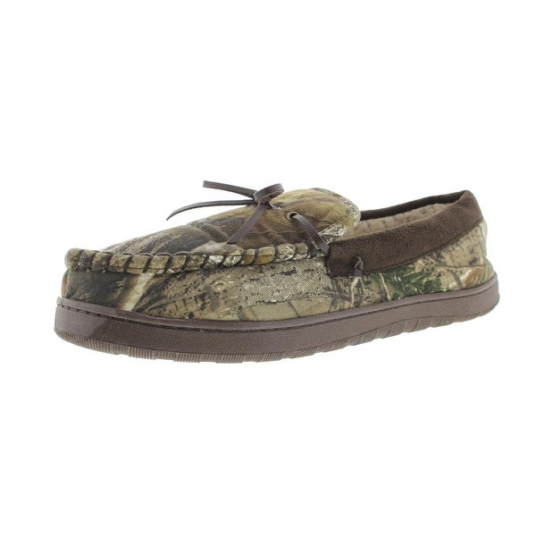 Realtree Mens Moccasin Slippers Camouflage Loafer