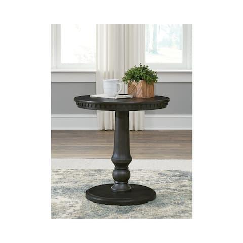 """Miniore Black Round End Table - 23""""W x 23""""D x 24""""H"""