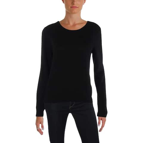 Juicy Couture Black Label Womens Pullover Sweater Cashmere Ribbed Trim