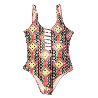 Volcom Womens Scoop Back Cut-Out One-Piece Swimsuit - XS