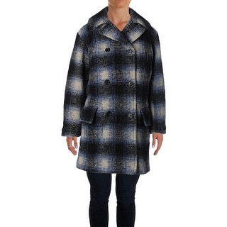 Denim & Supply Ralph Lauren Womens Tartan Coat Wool Blend Plaid - XS