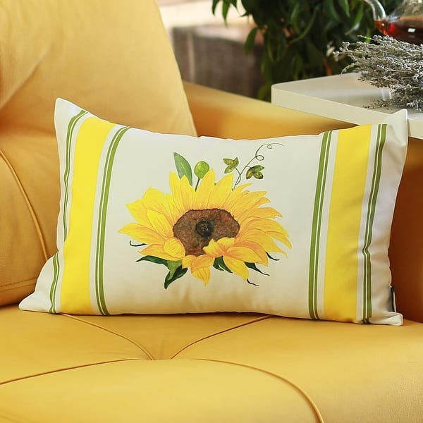 Fall Sunflower Decorative Lumbar Pillow Covers 12 X20 Set Of 2 Overstock 31946246