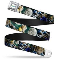 Keyboard Cat Logo White Full Color Keyboard Cat Moon Poses Webbing Seatbelt Seatbelt Belt