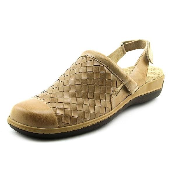 Softwalk Salina Women N/S Round Toe Leather Nude Slingback Sandal