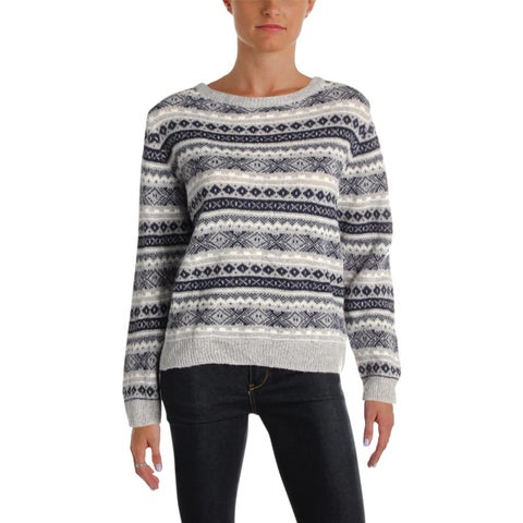 Barbour Womens Audrey Pullover Sweater Wool Blend Printed