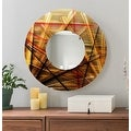 Statements2000 Gold / Red / Brown Metal Decorative Wall-Mounted Mirror by Jon Allen - Mirror 110 - Thumbnail 1
