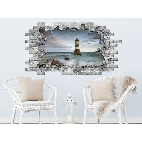 Nautical Hole in the Decals Lighthouse Vinyl Sticker Murals