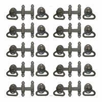 10 Door Latch Wrought Iron Black Set 5 1/2'' W | Renovator's Supply