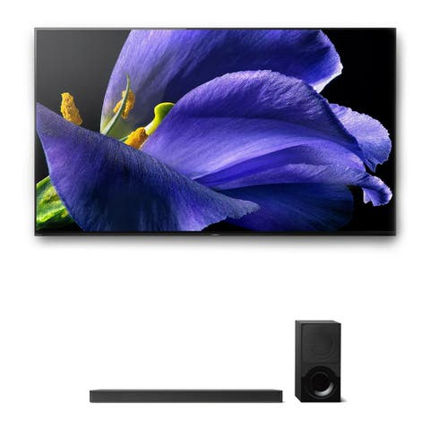 "Sony XBR-77A9G 77"" BRAVIA OLED 4K UHD HDR TV and HT-X9000F 2.1-Channel Dolby Atmos Sound Bar with Subwoofer"