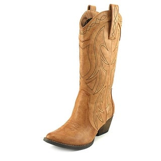 Very Volatile Rene Tan Women Pointed Toe Leather Tan Western Boot