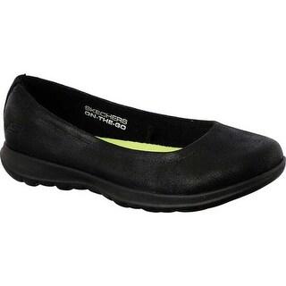 Skechers Women's GOwalk Lite Gem Skimmer Black/Black