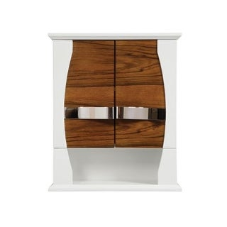 "DecoLav 5262 Natasha 22"" Wood Wall Cabinet with Open Cubby Storage, Adjustable Interior Shelf, and Stainless Steel Hardware"