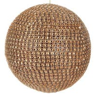 "4.5"" Glamour Time Sparkling Gold Rhinestone Ball Christmas Ornament"