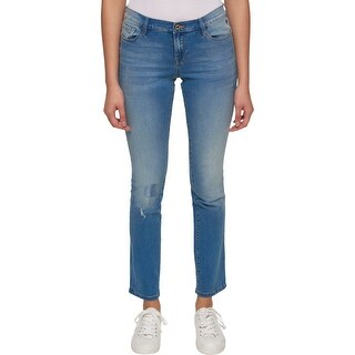 Tommy Hilfiger Womens Greenwich Straight Leg Jeans Mid-Rise Five-Pocket - 12