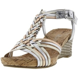 Kenneth Cole Reaction Girls Swirl Power Cork Wedge Sandals - 13
