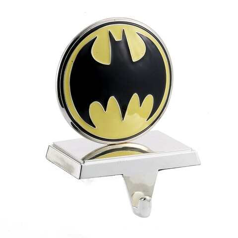 DC Comics Batman Logo Silver Plated Stocking Holder