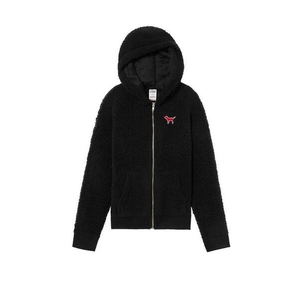 397ee06ee3295 Victoria's Secret PINK Collegiate Sherpa Full Zip Hoodie University Jacket