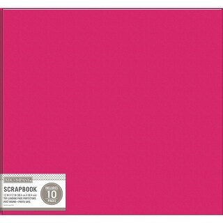 "K&Company Faux Leather Post Bound Basic Album 12""X12""-Pink"