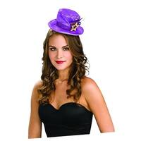 Purple Mini Top Costume Hat With Gold Stars
