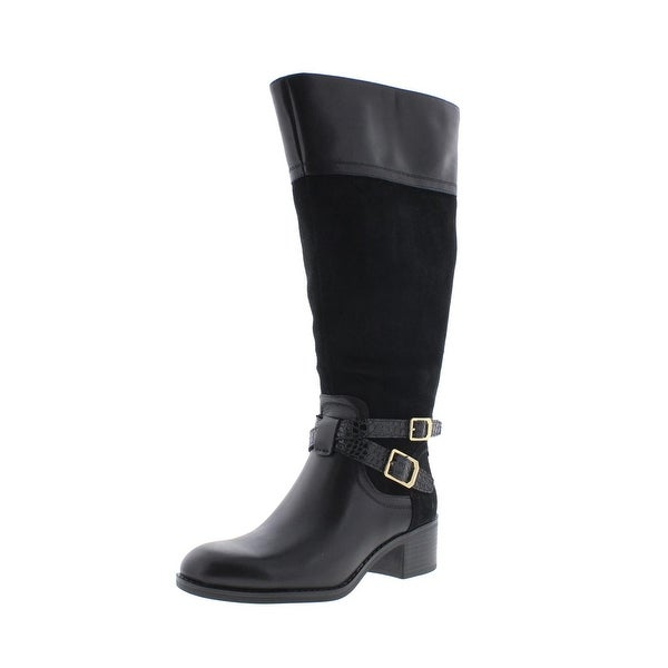 33ae6dffc4f2 Shop Franco Sarto Womens Lapis Riding Boots Wide Calf Leather - Free ...