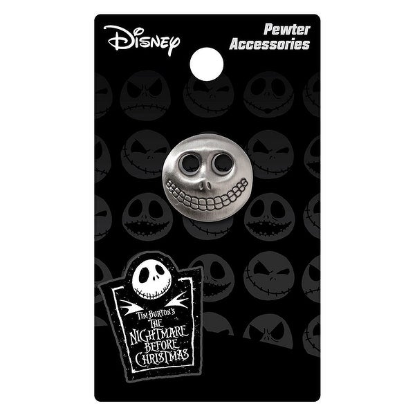 Nightmare Before Christmas Pewter Lapel Pin Barrel Mask - multi