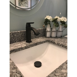 VIGO Penela Matte Black Single Hole Bathroom Faucet