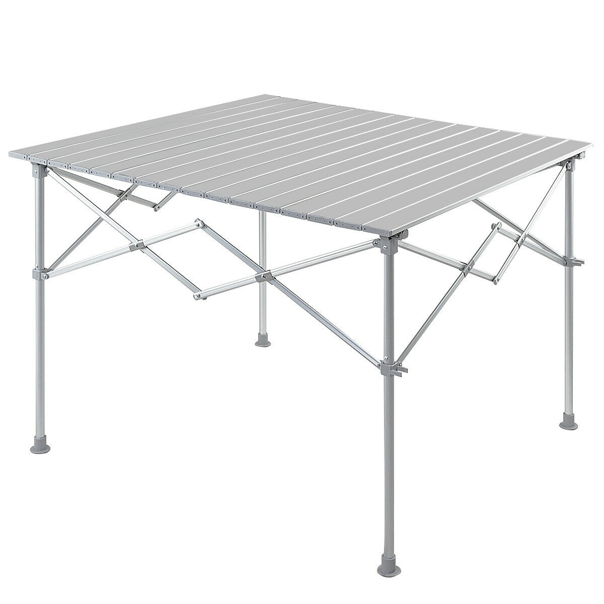 Folding Camping Table Lightweight Portable Outdoor Aluminium Frame Black