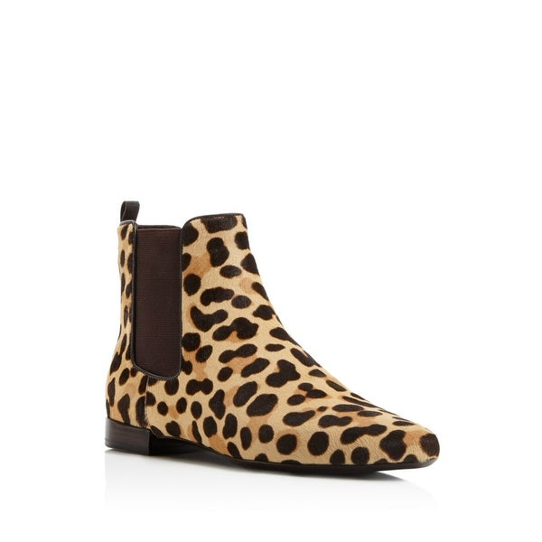 ab296c69297 Shop Tory Burch Orsay Calf-Hair Chelsea Ankle Boot Leopard Print ...