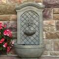 Sunnydaze Rosette Leaf Outdoor Wall Fountain, 31 Inch Tall - Thumbnail 12