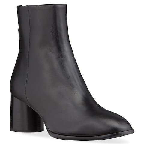 Rag and Bone Womens Fleur Black Back Zip Block Heel Booties Boots