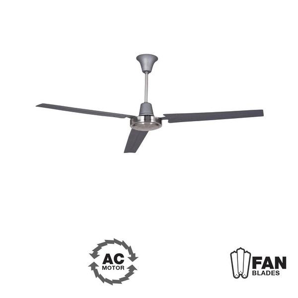 "Ellington Fans Utility Modern 56"" 3 Blade Indoor Ceiling Fan - Blades Included - n/a"