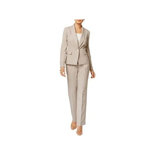 Le Suit Womens Pant Suit 1 Button Blazer Shawl Collar