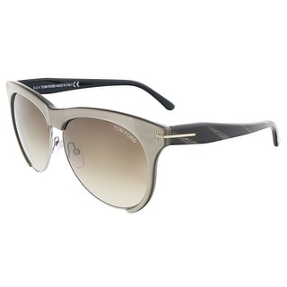 Tom Ford FT0365/S 38B LEONA Grey Bronze Clubmaster sunglasses
