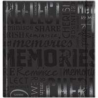 "Memories - Black - Embossed Gloss Expressions Photo Album 8.75""X9.5"" 200 Pocket"
