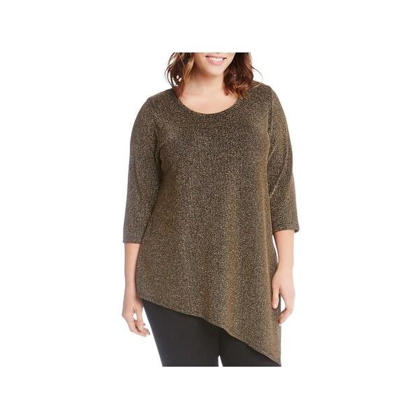 d1b1d2dbd3e Shop Karen Kane Womens Plus Pullover Top Knit Asymmetrical Hem ...