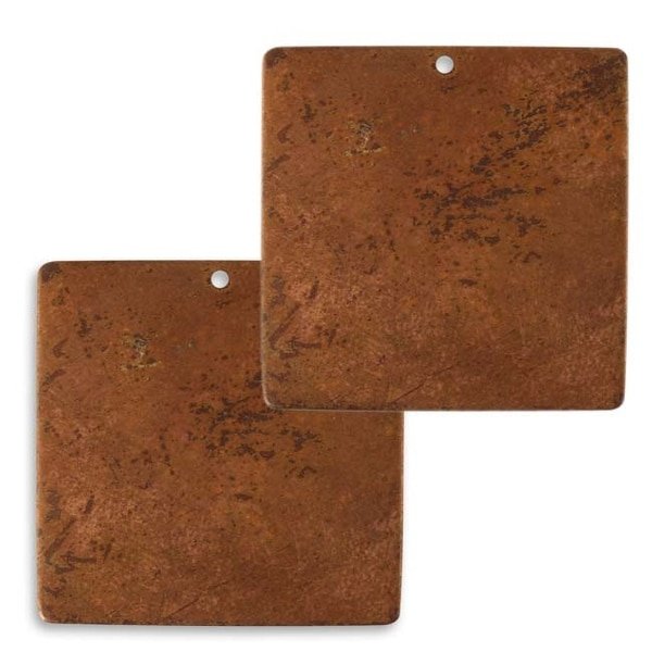 Vintaj Artisan Copper Blank Square Blank Pendant 29.5mm (2)