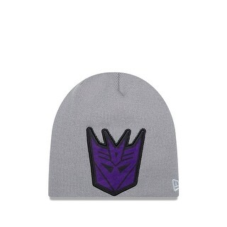New Era Transformers Decepticons Oversizer Knit Beanie, Gray, One Size